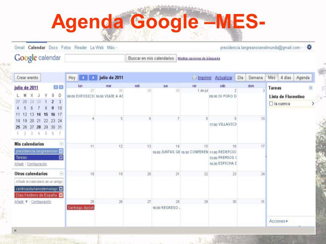 Agenda Google –MES-