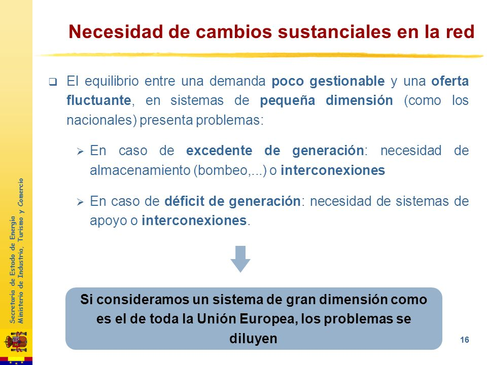 Secretaría de Estado de Energía Ministerio de Industria, Turismo y Comercio 15 El mix energético en 2050 se caracterizará por: Incremento importante d