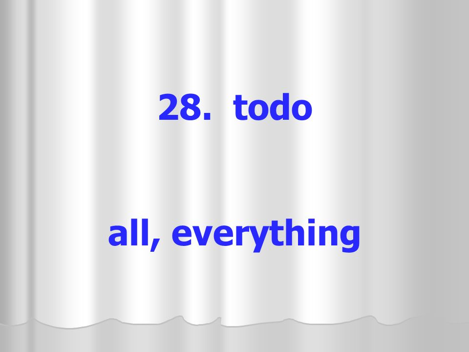 28. todo all, everything