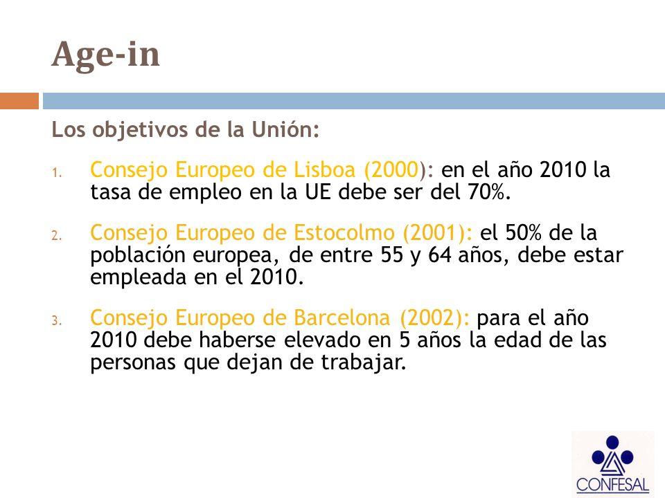 Age-in Los objetivos de la Unión: 1.