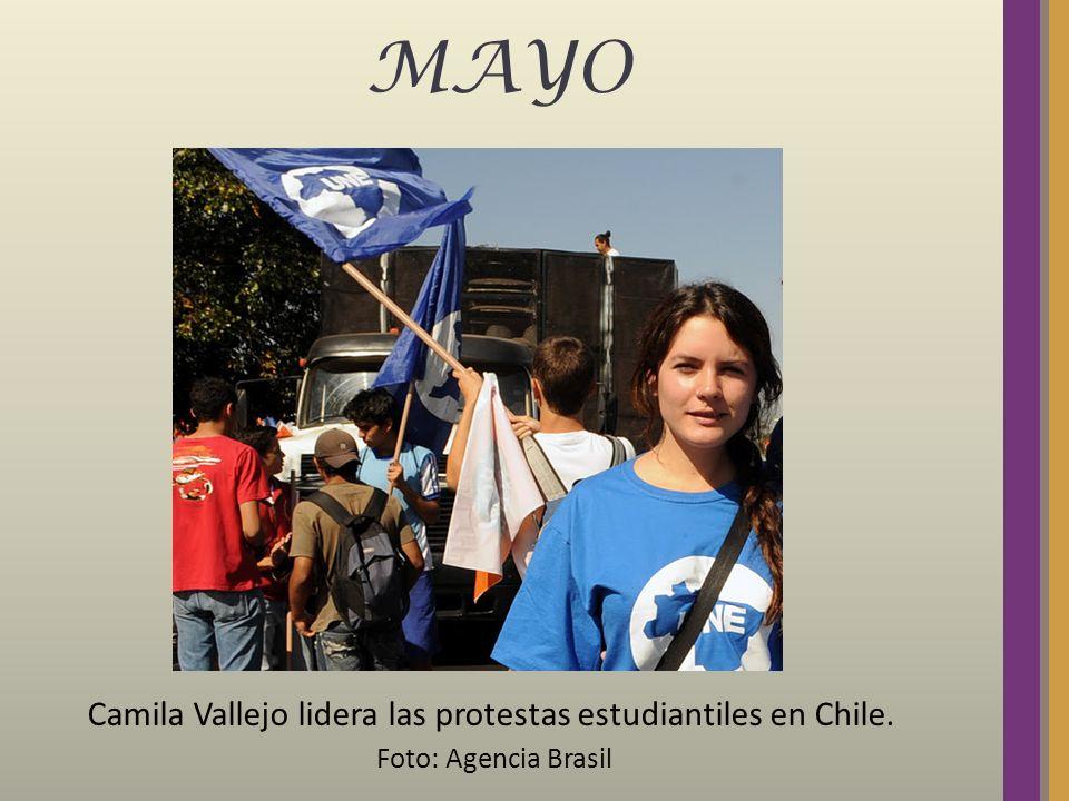 MAYO Camila Vallejo lidera las protestas estudiantiles en Chile. Foto: Agencia Brasil