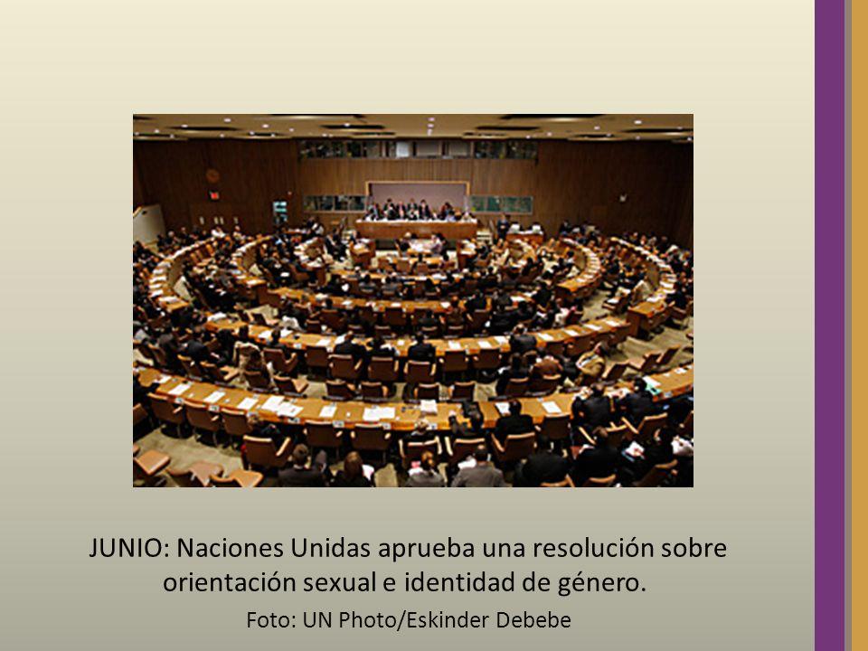 JUNIO: Naciones Unidas aprueba una resolución sobre orientación sexual e identidad de género. Foto: UN Photo/Eskinder Debebe