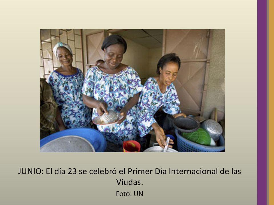 JUNIO: El día 23 se celebró el Primer Día Internacional de las Viudas. Foto: UN