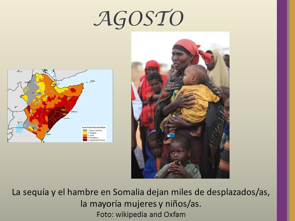 AGOSTO La sequía y el hambre en Somalia dejan miles de desplazados/as, la mayoría mujeres y niños/as. Foto: wikipedia and Oxfam