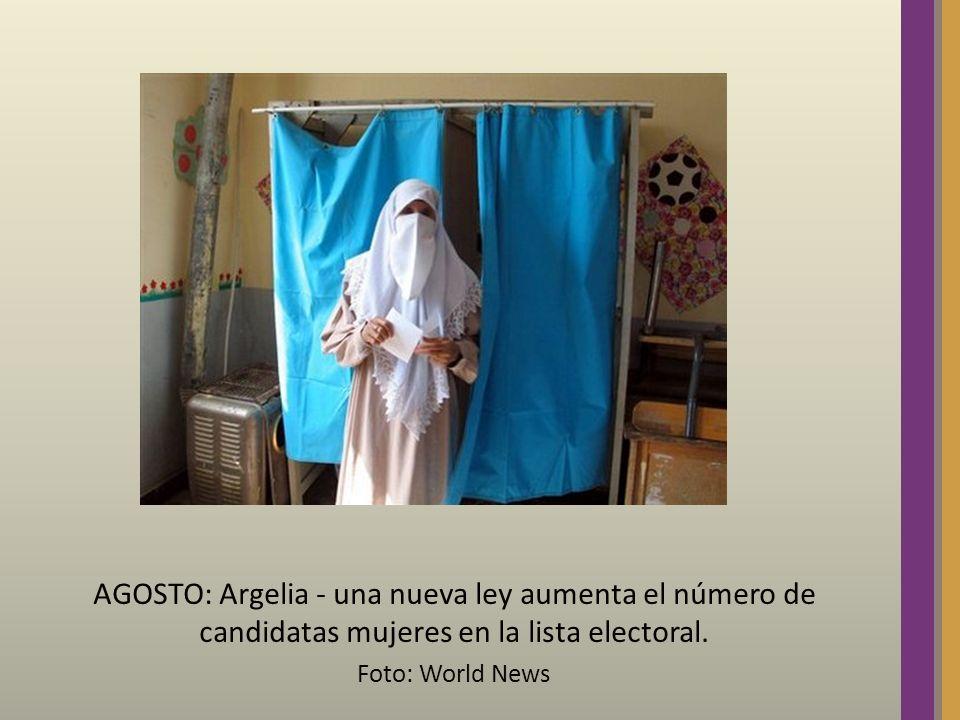 AGOSTO: Argelia - una nueva ley aumenta el número de candidatas mujeres en la lista electoral. Foto: World News