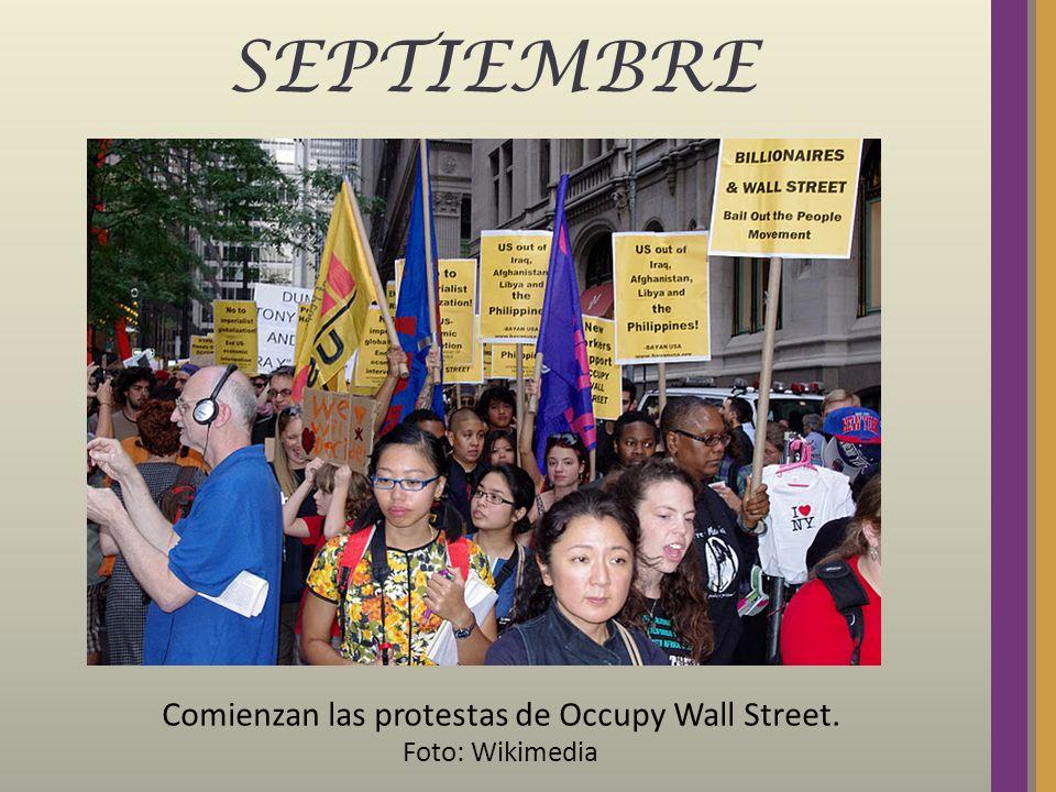 SEPTIEMBRE Comienzan las protestas de Occupy Wall Street. Foto: Wikimedia