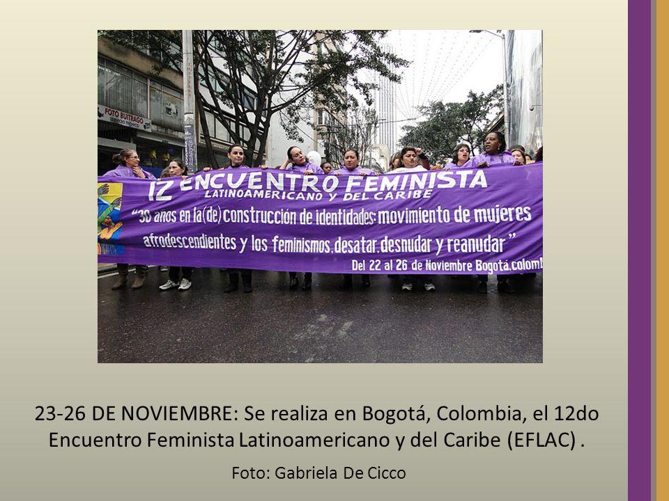 23-26 DE NOVIEMBRE: Se realiza en Bogotá, Colombia, el 12do Encuentro Feminista Latinoamericano y del Caribe (EFLAC). Foto: Gabriela De Cicco