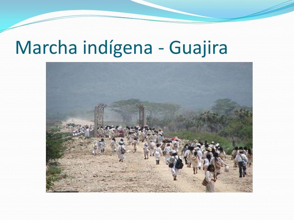 Marcha indígena - Guajira