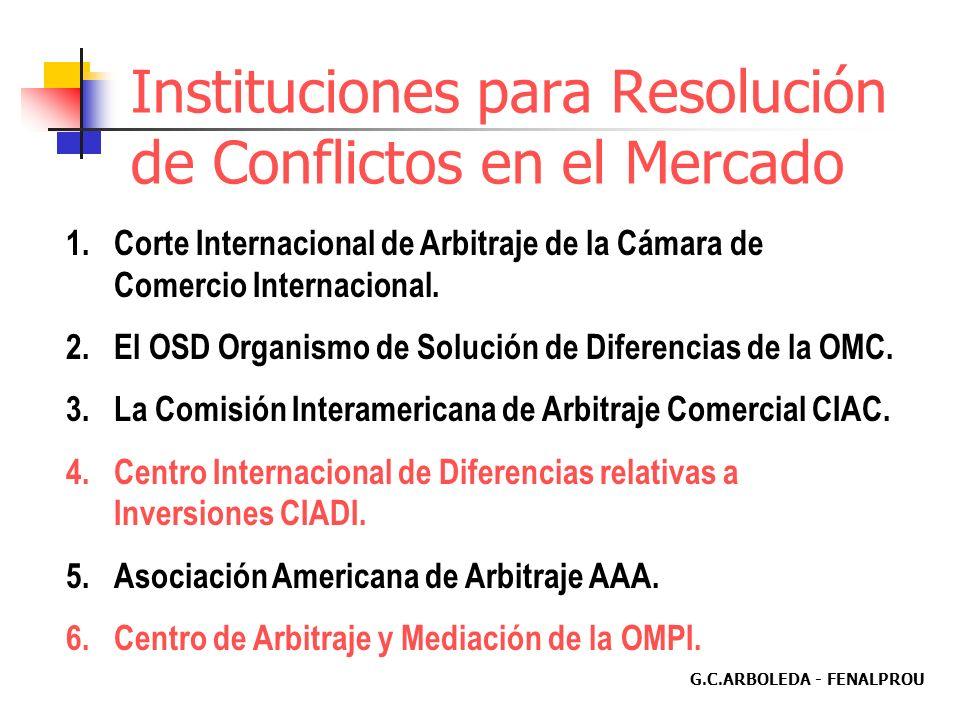 G.C.ARBOLEDA - FENALPROU Disposiciones del TLC y Educación EL CONOCIMIENTO Y LA DECISIÓN DE LAS CONTROVERSIAS SERÁN COMPETENCIA DE TRIBUNALES DE ARBIT
