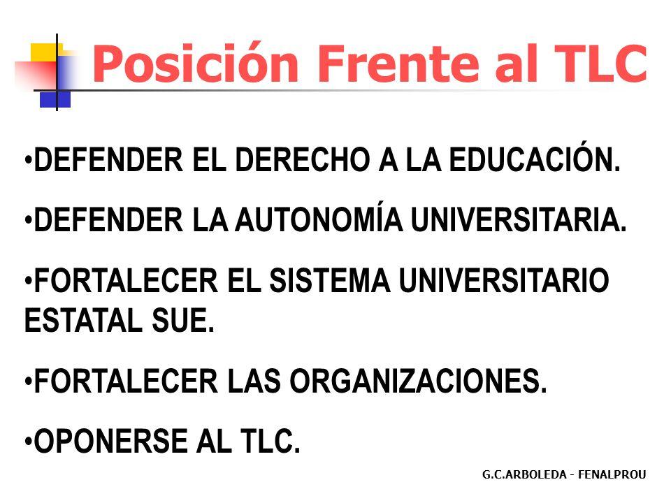 G.C.ARBOLEDA - FENALPROU LA UNIVERSIDAD PÚBLICA COLOMBIANA NO ES COMPETITIVA A NIVEL MUNDIAL. DEBILIDAD DE LA CAPACIDAD CIENTÍFICA Y TECNOLÓGICA. Form