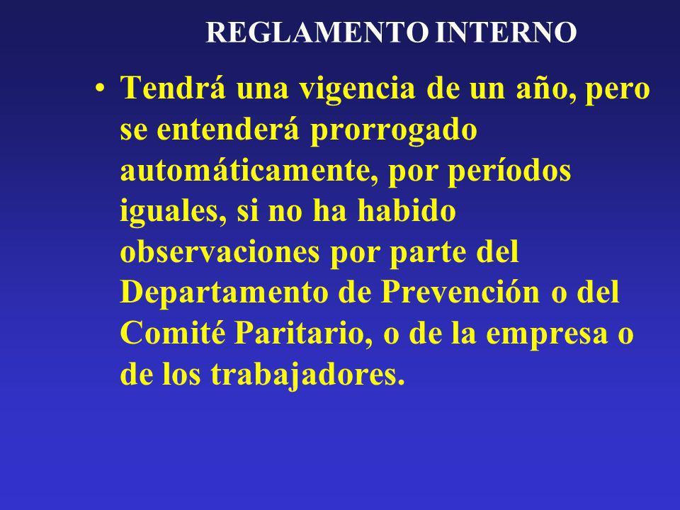 REGLAMENTO INTERNO Deberá comprender como mínimo: – Preámbulo –Disposiciones generales, –Obligaciones, –Prohibiciones –Sanciones.