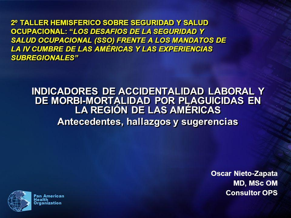 1 Pan American Health Organization 2º TALLER HEMISFERICO SOBRE SEGURIDAD Y SALUD OCUPACIONAL: LOS DESAFIOS DE LA SEGURIDAD Y SALUD OCUPACIONAL (SSO) F