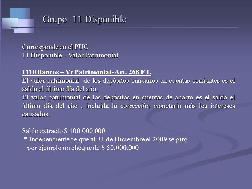PATRIMONIO Valor patrimonial de los activos – Art. 267 Et. - Por regla general es el precio de costo de acuerdo al art. 60 y ss. Si el activo viene de