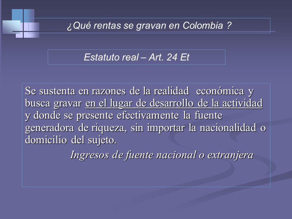 INGRESOS Casos especiales de Causación y realización Art. 27 y 28 ET. 1- Ingresos provenientes de la enajenación de bienes inmuebles: únicamente a fec