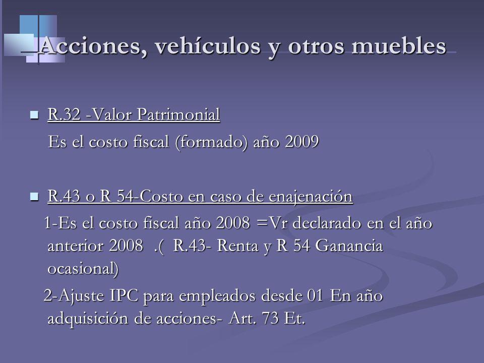 Costo en caso de enajenación de inmuebles Art. 90 -69 ss y 300 Par ET Costo fiscal en caso de enajenación es: Art. 90 -69 ss y 300 Par ET Costo fiscal