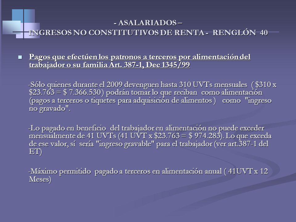 - ASALARIADOS – Aportes voluntarios a fondos de pensiones y retención contingente Ingreso total 6.000.000 6.000.000 Ingreso total 6.000.000 6.000.000