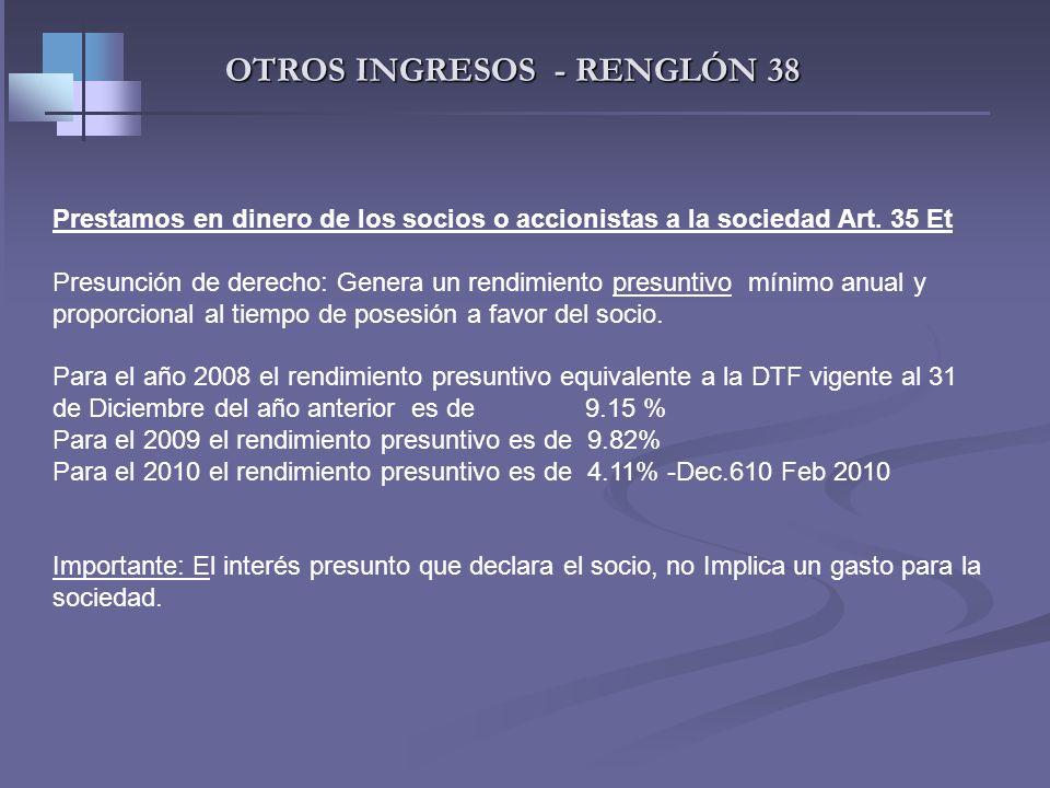 TRABAJADORES INDEPENDIENTES- INGRESOS Ingresos no constitutivos de renta -Aportes obligatorios a fondos de pensiones -Aportes voluntarios a fondos de