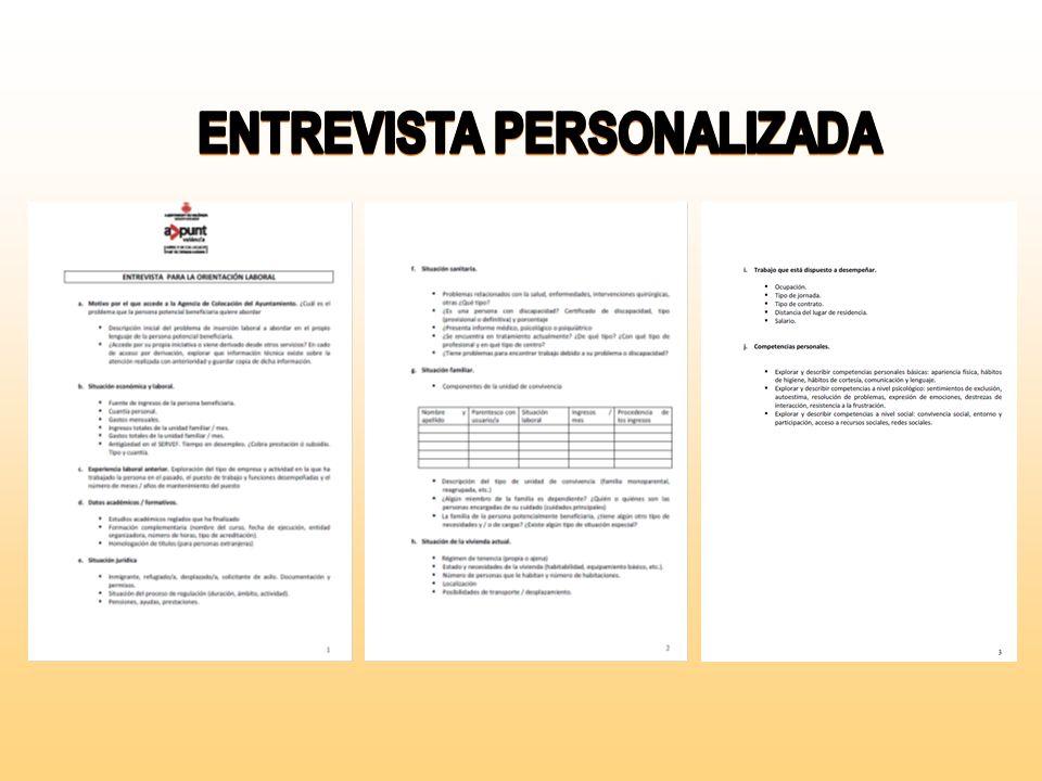 Personas que quieren acceder a una oferta de empleo puesta en publicidad y no están inscritas en 1- La inscripción se hace en el mismo día. (Datos per