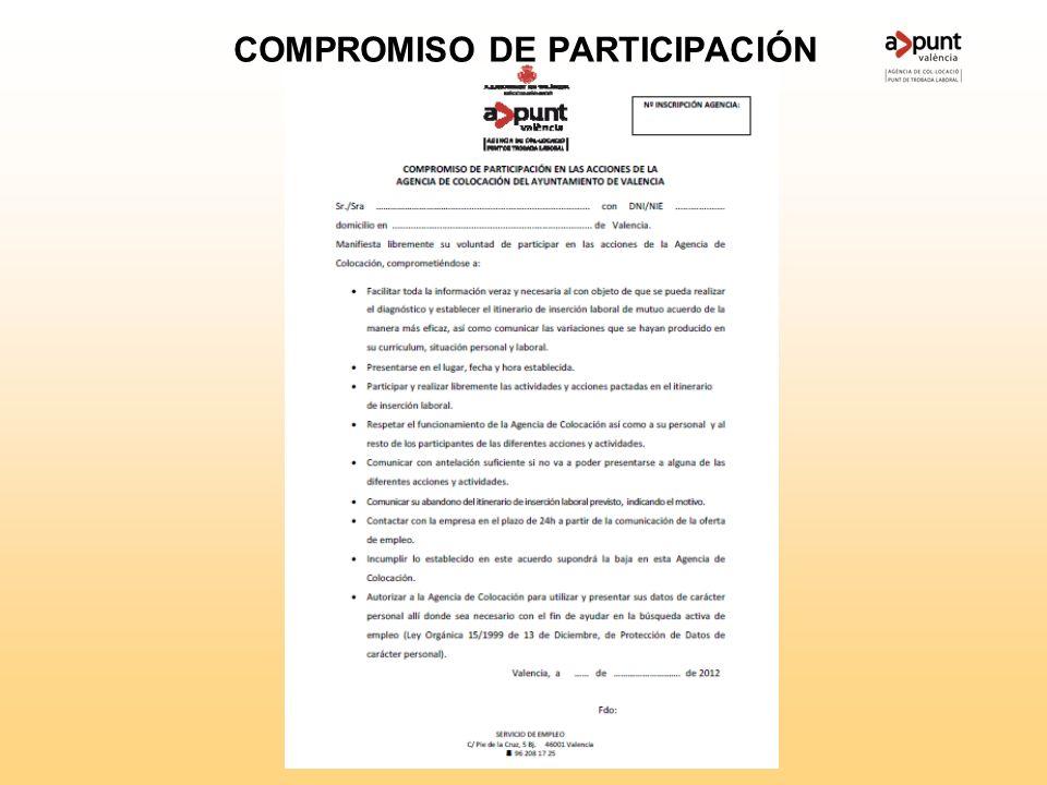 ORIENTACIÓN ESPECÍFICA Firma compromiso participación B- Firma compromiso participación RENOVAR EN FECHAS ASIGNADAS PRESENTARSE CUANDO SE LE CITE COMU
