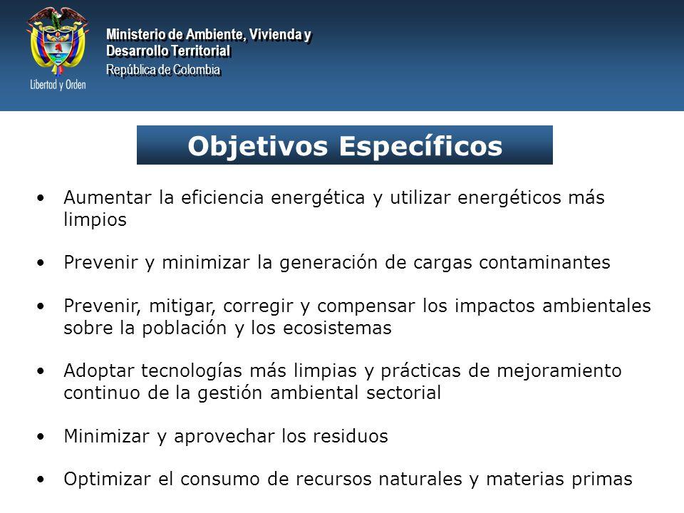 Ministerio de Ambiente, Vivienda y Desarrollo Territorial República de Colombia Ministerio de Ambiente, Vivienda y Desarrollo Territorial República de Colombia PRINCIPIOS Integralidad Concertación Internalización de los costos ambientales Gradualidad