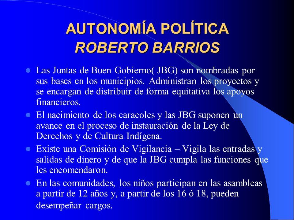 AUTONOMÍA POLÍTICA – LA REALIDAD Las autoridades de la JBG tienen un mandato por 3 años.