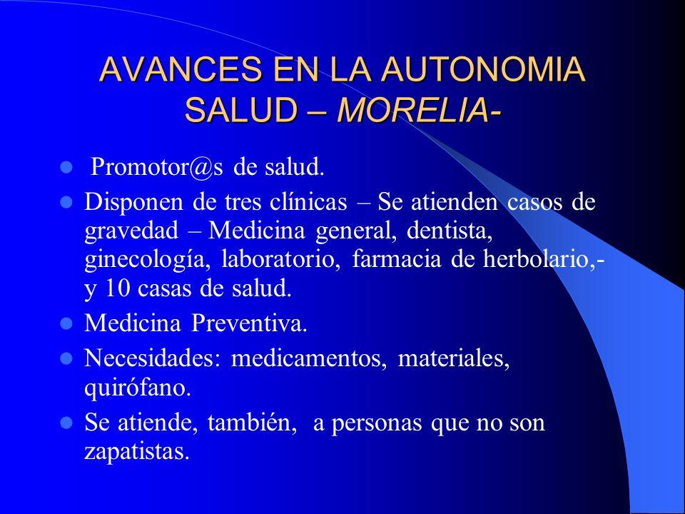 AVANCES EN LA AUTONOMÍA SALUD – ROBERTO BARRIOS - Promotor@s de salud.