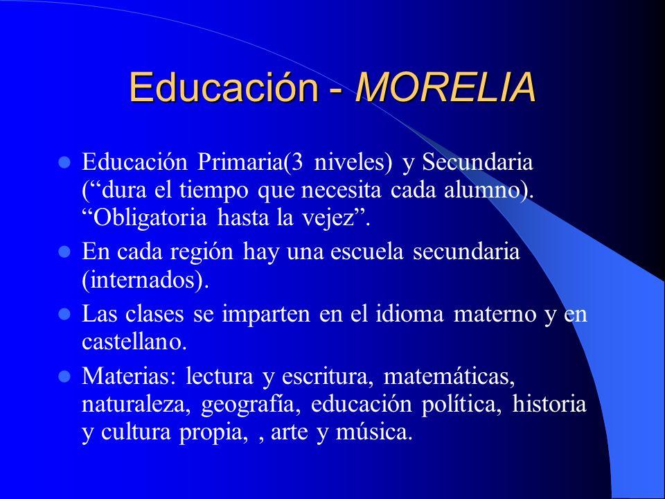 Educación – ROBERTO BARRIOS 2 niveles: 1º- Semillita del sol – Hasta 10-12 años.