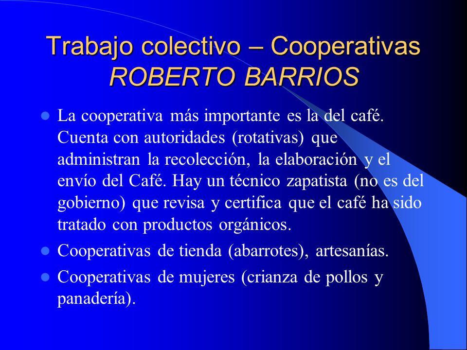 Trabajo colectivo – Cooperativas LA REALIDAD Existen cooperativas de granjas, tiendas, etc, a nivel de las Comunidades y de los Municipios.