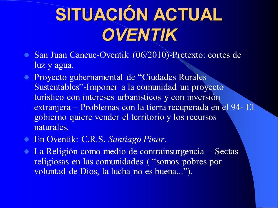 SITUACIÓN ACTUAL LA GARRUCHA Agresiones de la paramilitar OPDDIC (Organización para la Defensa de los Derechos Indígenas y Campesinos).
