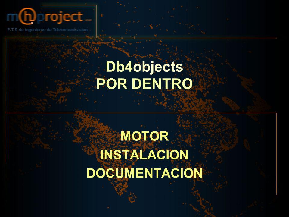 Db4objects POR DENTRO MOTOR INSTALACION DOCUMENTACION