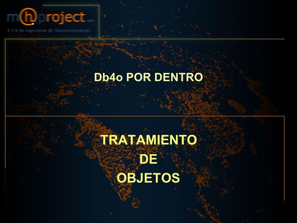 Db4o POR DENTRO TRATAMIENTO DE OBJETOS