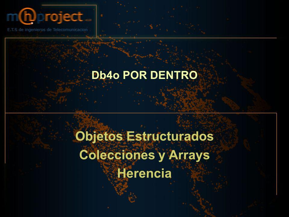 Db4o POR DENTRO Objetos Estructurados Colecciones y Arrays Herencia