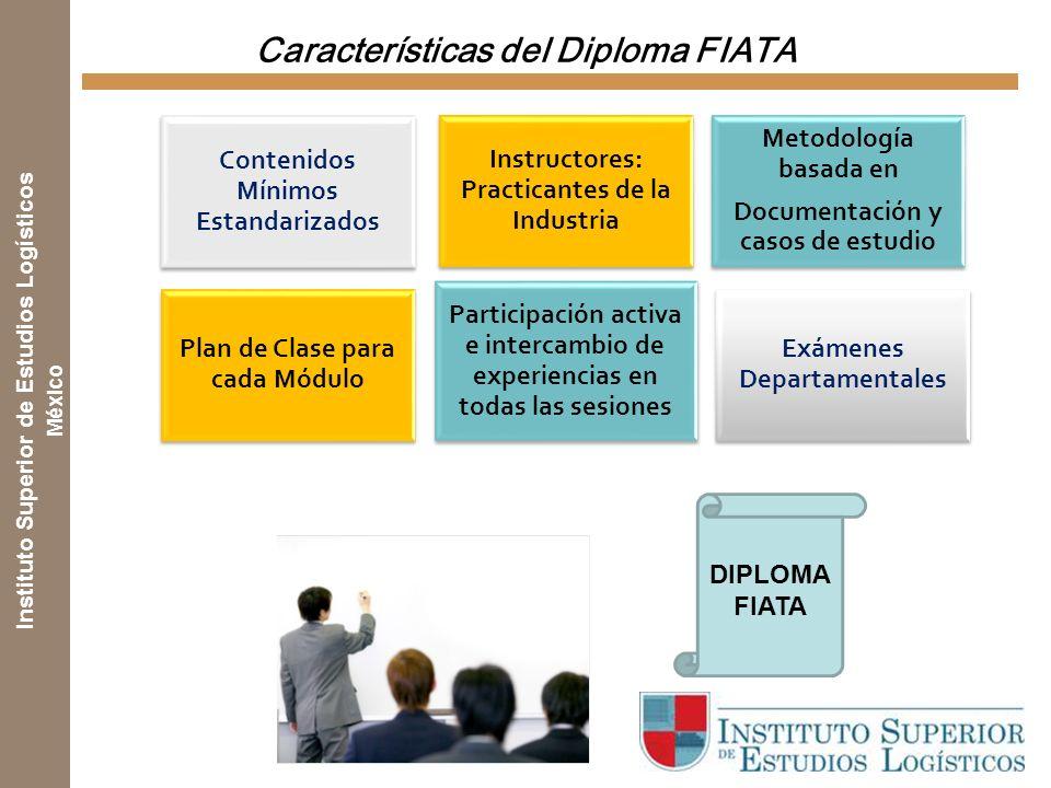 Instituto Superior de Estudios Logísticos México Contenido del Diploma FIATA Introducción al Operador Logístico Transporte Aéreo Transporte y contened