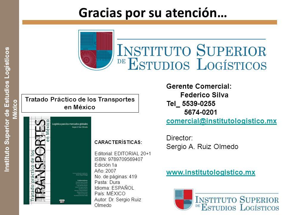 Instituto Superior de Estudios Logísticos México CARACTERÍSTICAS: Editorial: EDITORIAL 20+1 ISBN: 9789709569407 Edición 1a Año: 2007 No.