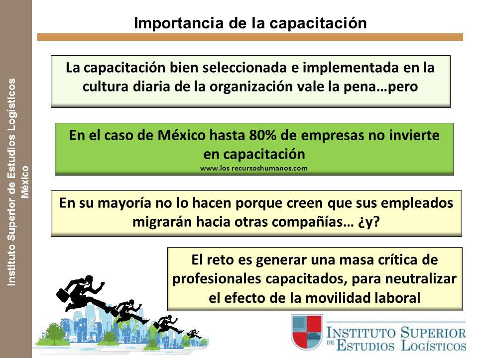 Instituto Superior de Estudios Logísticos México En su mayoría no lo hacen porque creen que sus empleados migrarán hacia otras compañías… ¿y.