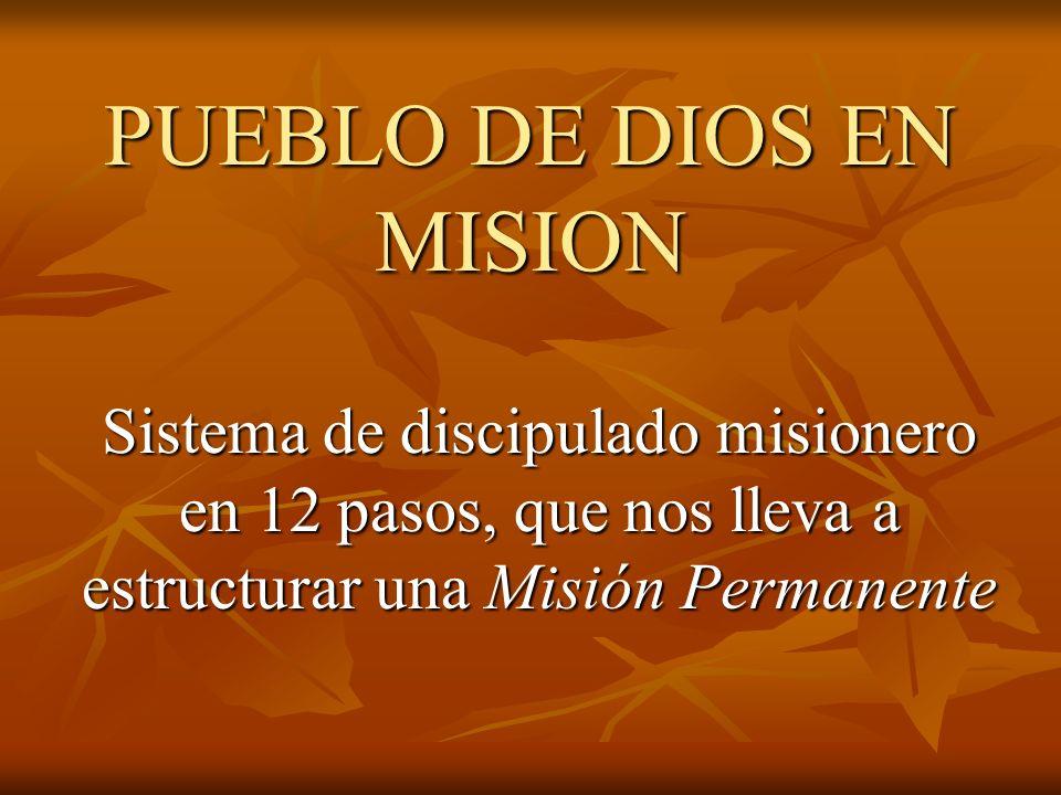 PUEBLO DE DIOS EN MISION Sistema de discipulado misionero en 12 pasos, que nos lleva a estructurar una Misión Permanente