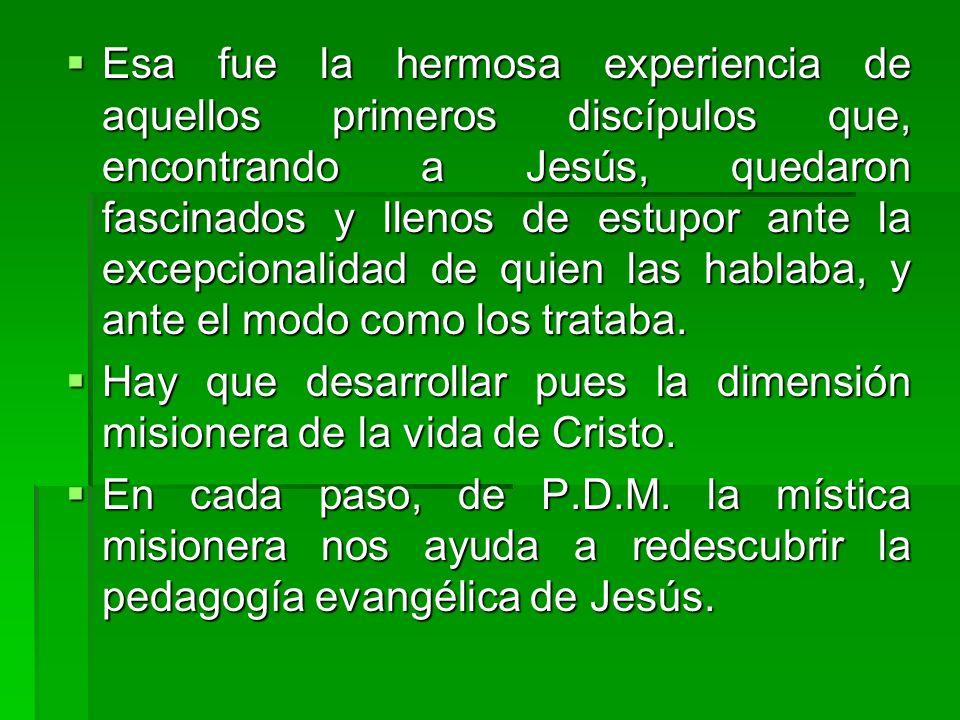 Esa fue la hermosa experiencia de aquellos primeros discípulos que, encontrando a Jesús, quedaron fascinados y llenos de estupor ante la excepcionalid