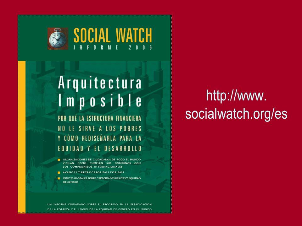 http://www. socialwatch.org/es