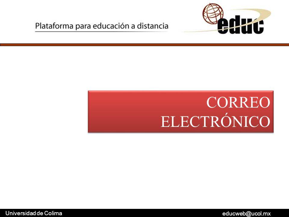 educweb@ucol.mx Universidad de Colima CORREO ELECTRÓNICO
