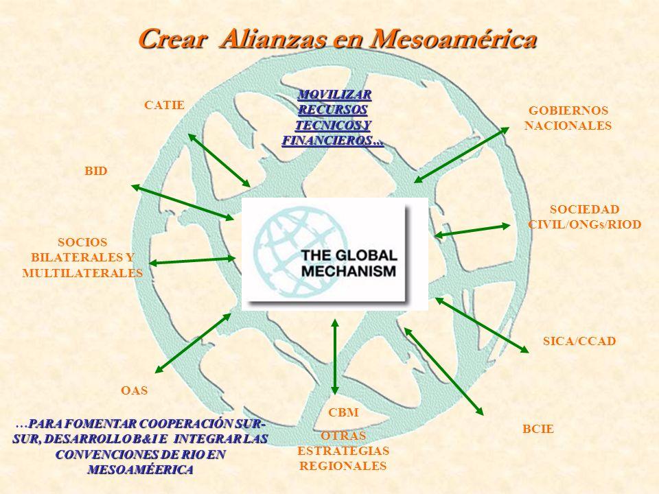 Crear Alianzas en Mesoamérica MOVILIZAR RECURSOS TECNICOS Y FINANCIEROS...