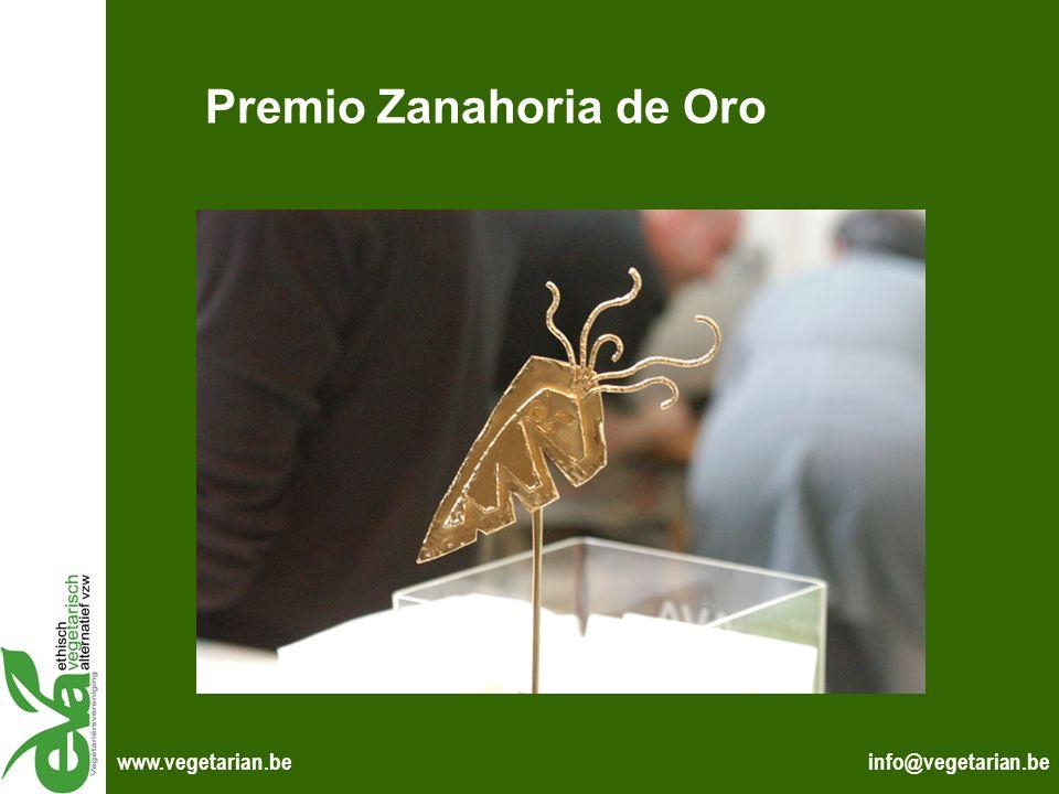 info@vegetarian.bewww.vegetarian.be Premio Zanahoria de Oro