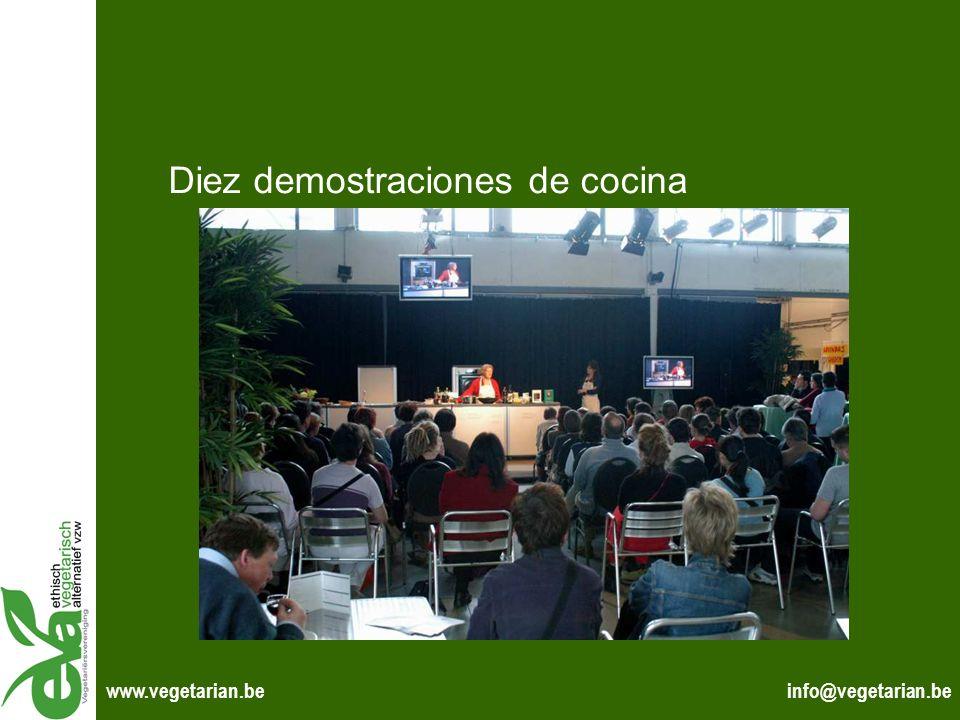 info@vegetarian.bewww.vegetarian.be Diez demostraciones de cocina
