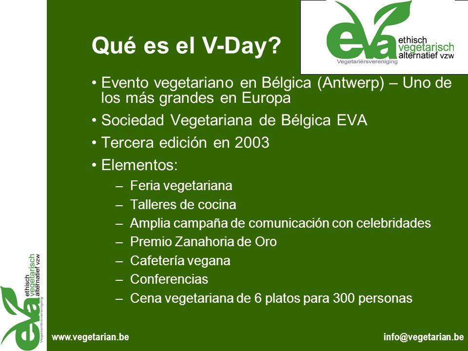 info@vegetarian.bewww.vegetarian.be Evento vegetariano en Bélgica (Antwerp) – Uno de los más grandes en Europa Sociedad Vegetariana de Bélgica EVA Ter