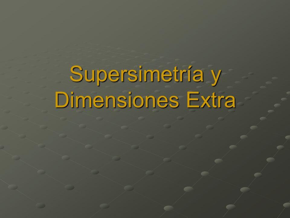 Supersimetría y Dimensiones Extra
