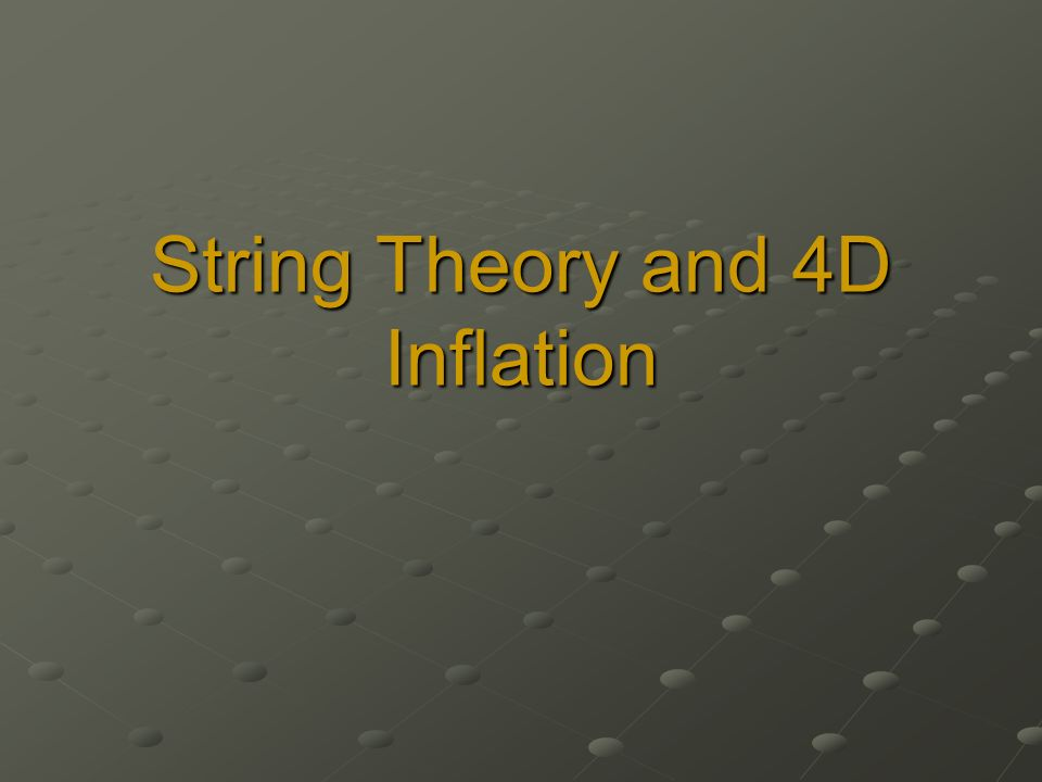 String Theory and 4D Inflation