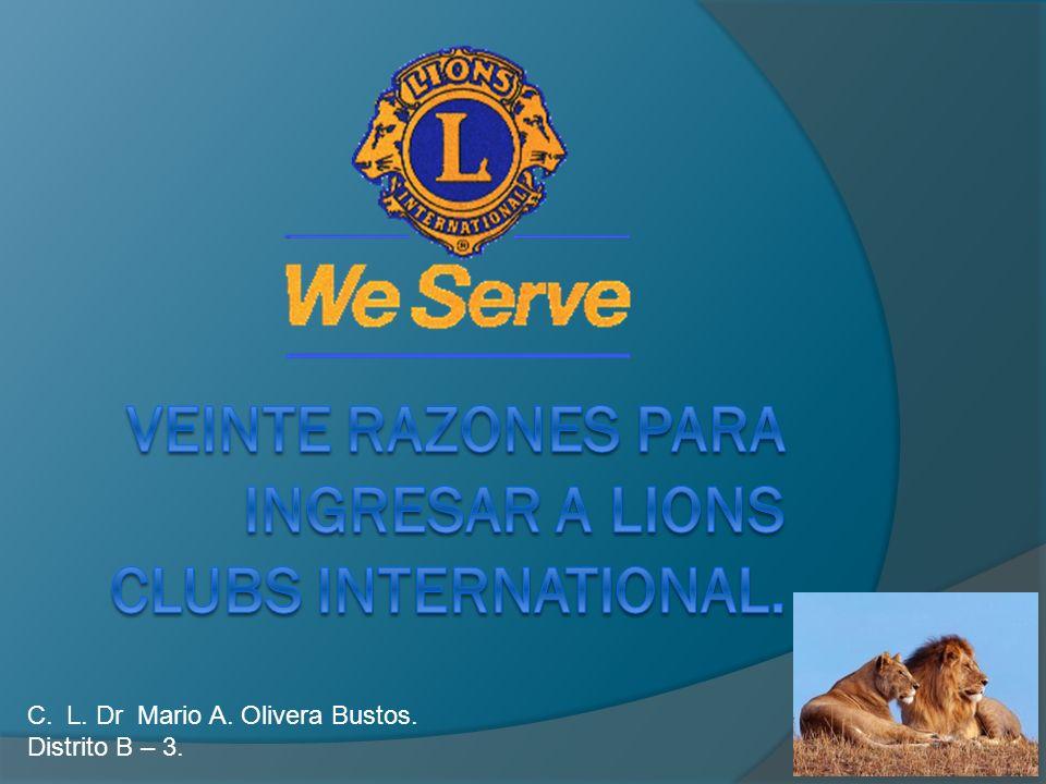 C.L. Dr Mario A. Olivera Bustos. Distrito B – 3.