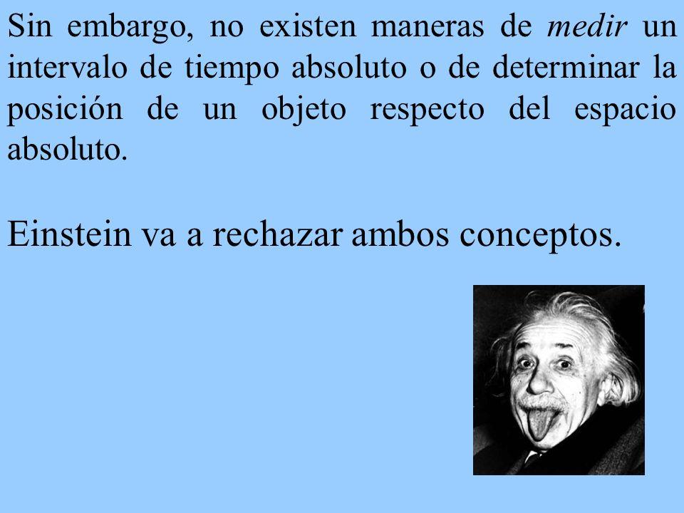 Al no existir un espacio absoluto, no hay una distinción radical entre observadores inerciales y acelerados.
