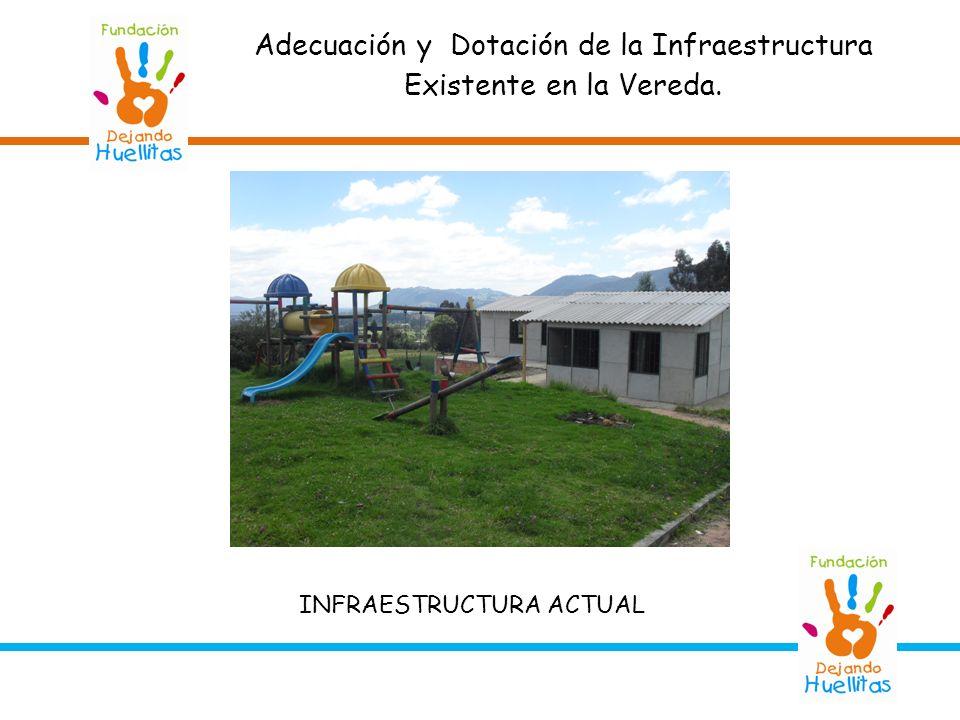Adecuación y Dotación de la Infraestructura Existente en la Vereda. INFRAESTRUCTURA ACTUAL