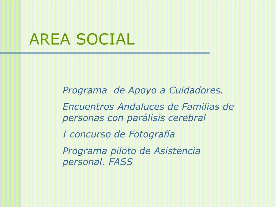Programa de Apoyo a Cuidadores. Encuentros Andaluces de Familias de personas con parálisis cerebral I concurso de Fotografía Programa piloto de Asiste