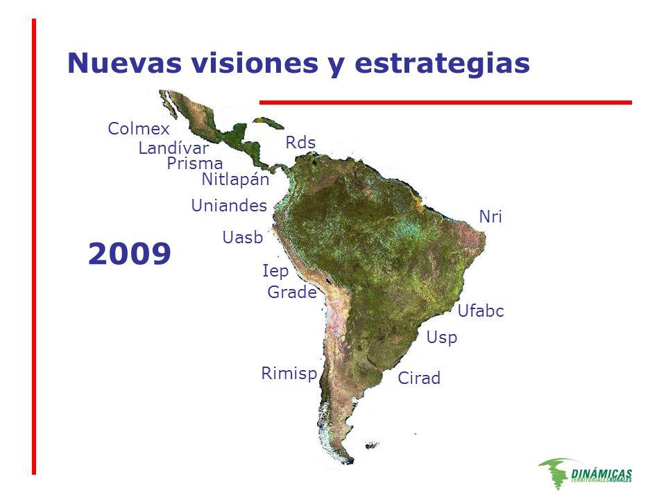 Nuevas visiones y estrategias Colmex Uniandes Rds Nitlapán Prisma Landívar Uasb Iep Grade Rimisp Usp Ufabc Cirad Nri 2009